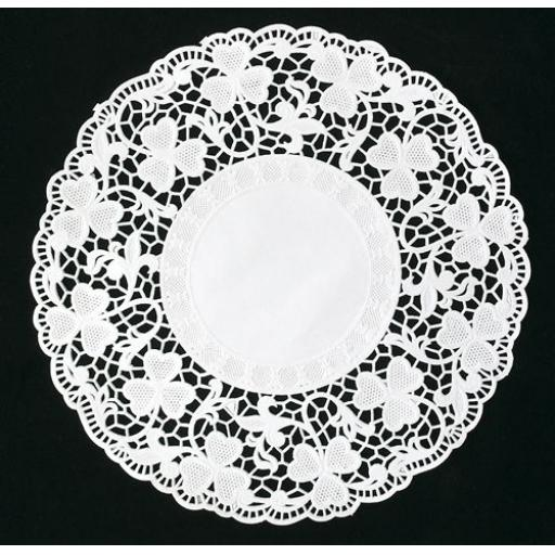 "10.5"" White Paper Doilies - 27cm Round Lace Doyleys"