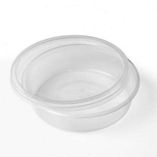 Round 8oz Microwave Clear Plastic Food Containers for Freezing Takeaway Hot Cold Foods