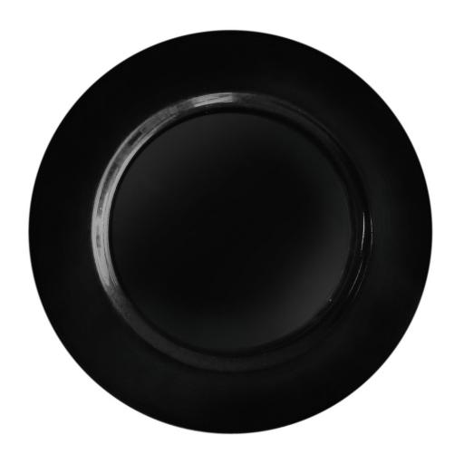 "Black 10"" Mozaik Strong Reusable Hard Plastic Dinner Plates 26cm"