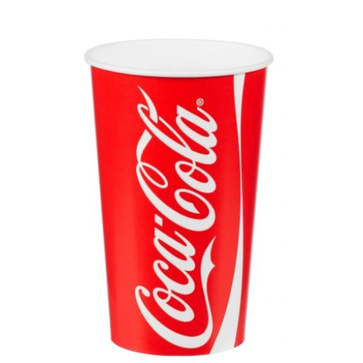 Coke / Coca Cola Paper Cups 22oz / 500ml for Fast Food Cold Soft Fizzy Drinks