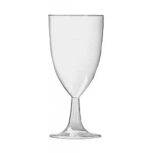 8oz Classique Clear Plastic Wine Goblets Cups Glasses - Disposable Juice Soft Drink