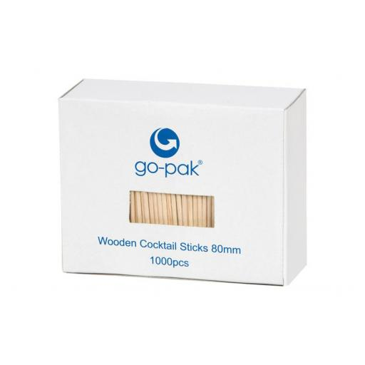 "Wooden Cocktail Sticks / Toothpicks 80mm 3"" Biodegradable Disposable High Quality"