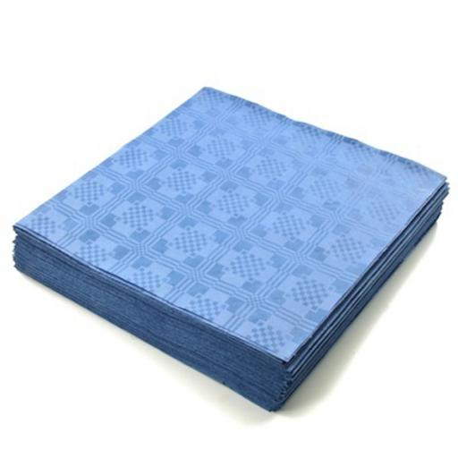 Blue Disposable Paper Table Cover Cloth 90x88cm - 25 Sheets