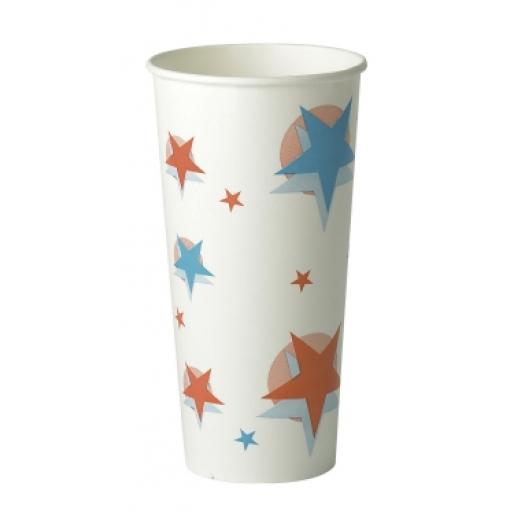 Star Ball Design Slush Paper Cups 22oz / 500ml for Fast Food Cold Soft Fizzy Drinks