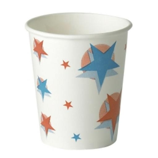 Star Ball Design Slush Paper Cups 9oz / 250ml for Fast Food Cold Soft Fizzy Drinks