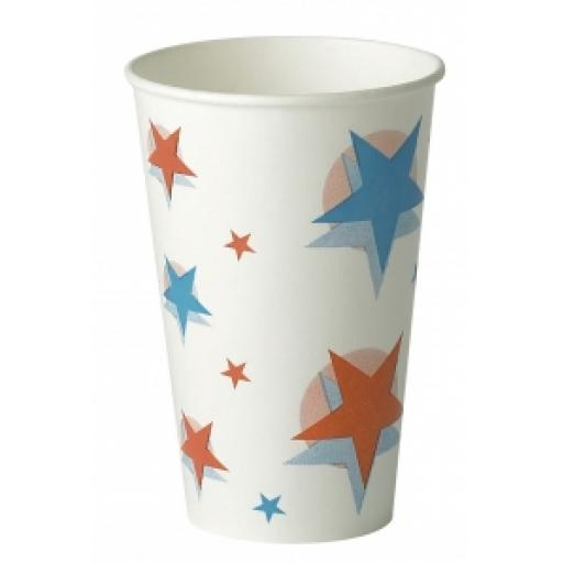 Star Ball Design Slush Paper Cups 12oz / 300ml for Fast Food Cold Soft Fizzy Drinks
