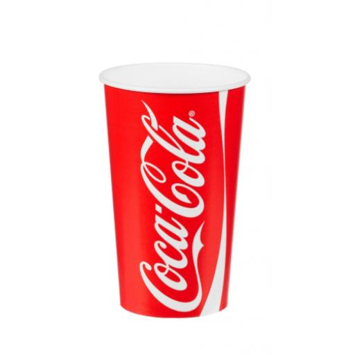 Coke / Coca Cola Paper Cups 16oz / 400ml for Fast Food Cold Soft Fizzy Drinks