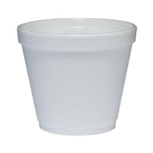Dart Solo 8oz White Foam Polystyrene Food Container 8SJ12 - Hot Cold Food Takeaways
