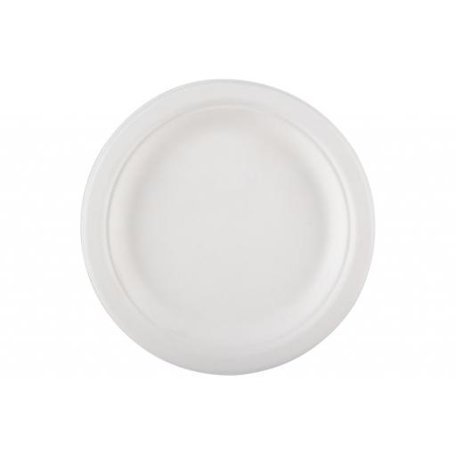 "Round 6"" Strong White Paper Plates Biodegradable Bagasse Disposable Starter Snack - 155cm"