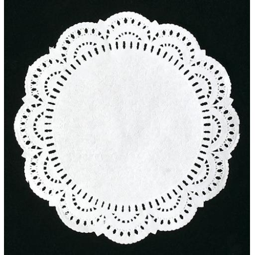 "7.5"" White Paper Doilies - 19cm Round Lace Doyleys"