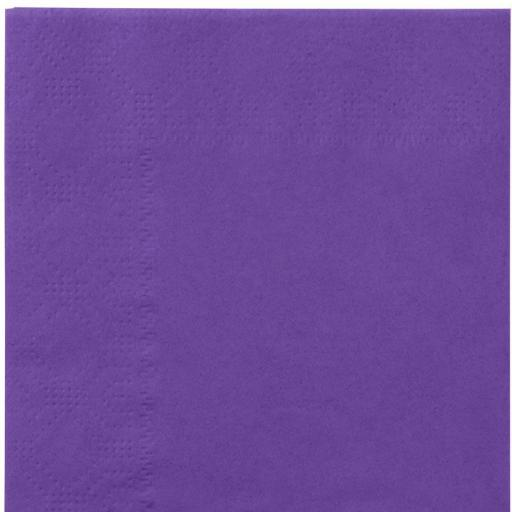 Purple Paper Napkins 2 Ply 33cm 4 Fold Tissue Serviettes