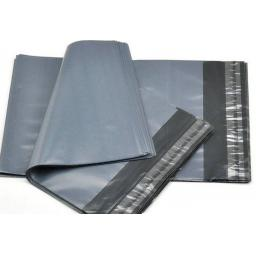 "Grey Postal Mailing Bags 17"" x 24"" Strong Plastic Self Adhesive No4 - QTY 500"
