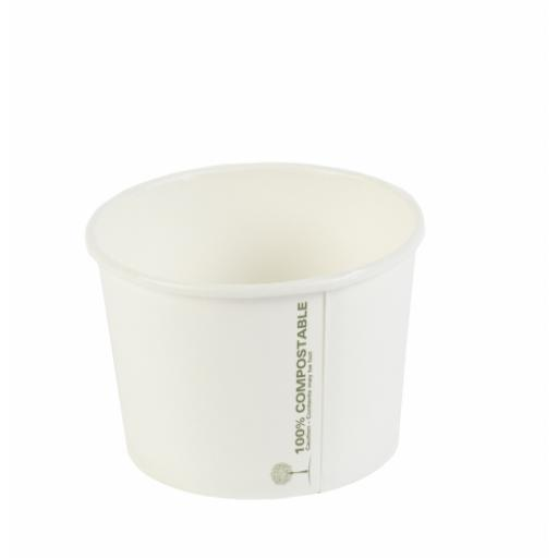 Ingeo 8oz Round Compostable Soup Container - Small