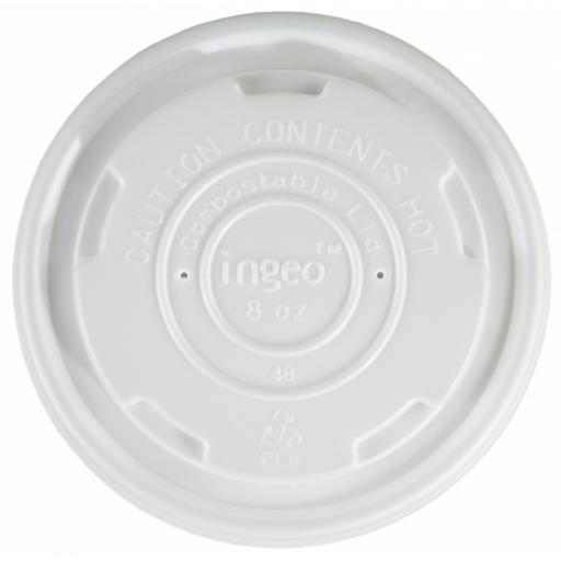 8oz CPLA Lids to Fit Compostable Soup Container - Small