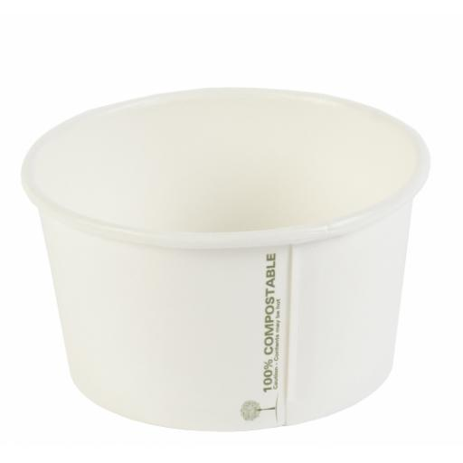 Ingeo 12oz Round Compostable Soup Container - Medium