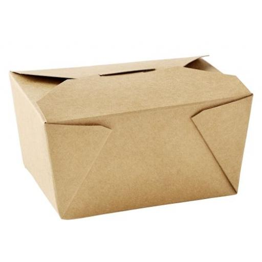 No1 Brown Kraft 26oz Paper Food Containers Takeaway Box