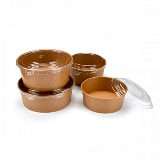 Paper - Kraft Salad Bowls - Containers