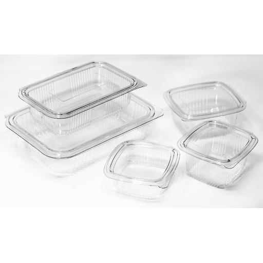 Plastic - Hinged Salad Containers