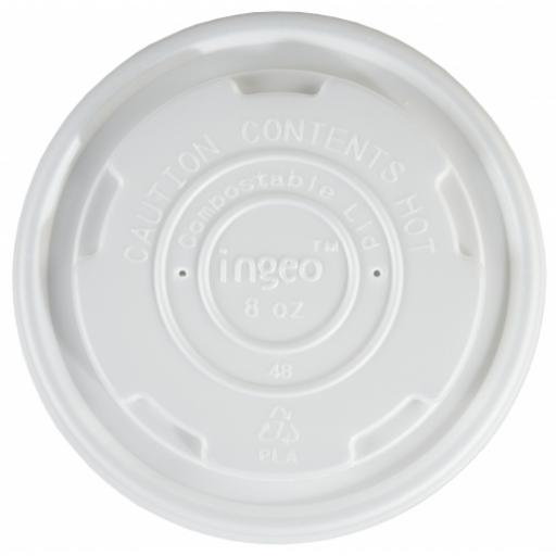 Ingeo 8oz CPLA Lids to Fit Compostable Soup Container - Small