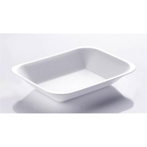 Linpac C1 Chippy Tray White Foam Polystyrene - Small