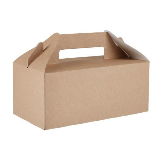 Gable Carry Box - Small 2.8L Brown Kraft Paper Food Containers Takeaway Box