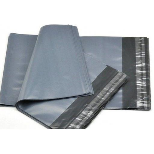 "Grey Postal Mailing Bags 14"" x 21"" Strong Plastic Self Adhesive No3 - QTY 500"