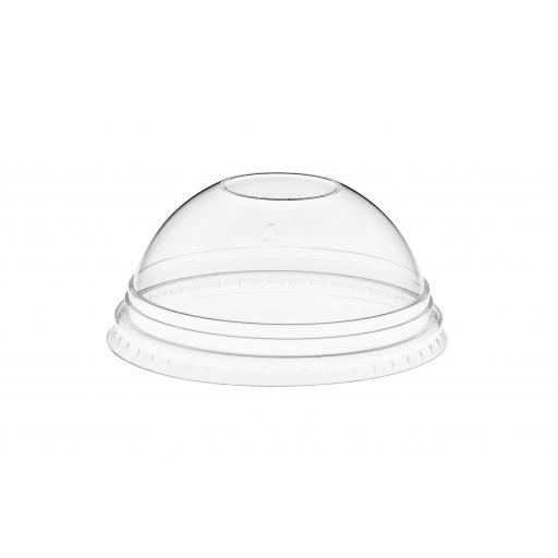 12oz Clear Dome Lids with NO Hole For Plastic Smoothie Cups