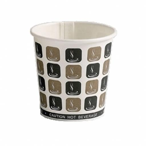 4oz Mocha Cafe Coffee Cups Paper Single Wall Disposable Tea Expresso Hot Drinks