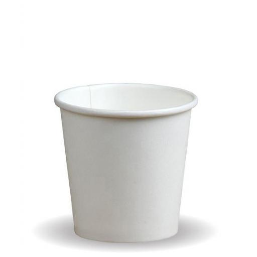 4oz White Paper Cups Single Wall Disposable Tea Expresso Hot Drinks