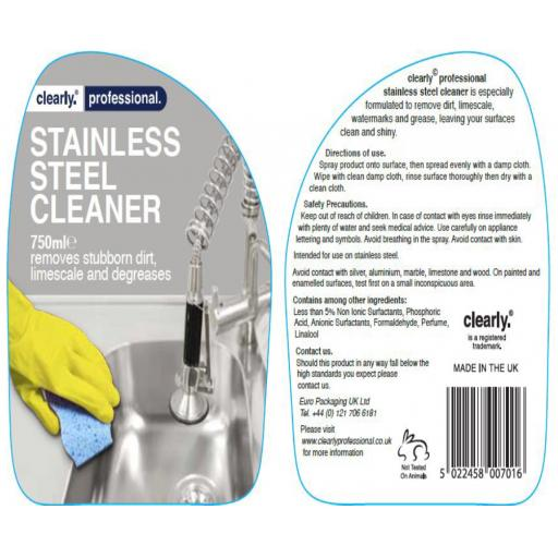 Clearly 750ml Stainless Steel Cleaner 2.jpg